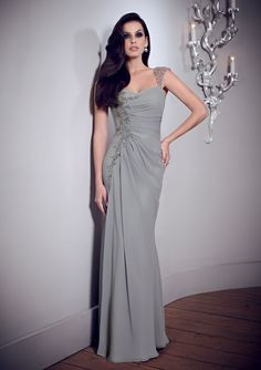 Elegant Sheath/Column Straps Beading Crystal Detailing Ruching Floor-length Chiffon Mother of the Bride Dresses 💟$248.99 from http://www.www.dressesular.com   #mother #the #sheath/column #bride #bridal #weddingdress #dresses #bridalgown #wedding #ruching #straps #elegant #of #mywedding #floorlength #detailing #chiffon #crystal #beading