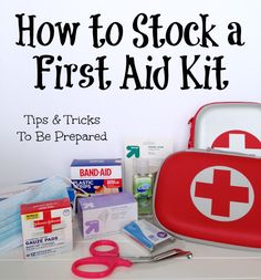 How to stock a first aid kit (and a free printable emergency contact list)! Emergency First Aid, Emergency Preparation, In Case Of Emergency, Survival Prepping, Emergency Preparedness, Survival Skills, Survival Gear, Survival Fishing, Survival Books
