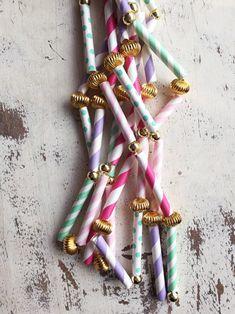 Pretty Crafts: Paper Straw Garland