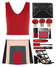 """""""Valentino skirt"""" by juliehalloran ❤ liked on Polyvore featuring Valentino, New Look, NARS Cosmetics and Urban Decay"""