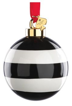 Kate Spade stripe globe ornament  Christmas ideas for luxury christmas. Best interior trends for your home.