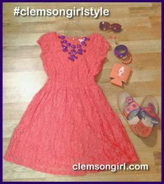 Clemson Girl Giveaway - Upgrade your gameday style with Bvo Rogers ! Win a pair of Jack Rogers and Navajo jacks! Clemson Tigers, Jack Rogers, Navajo, Giveaway, Girl Fashion, Two Piece Skirt Set, Summer Dresses, Orange, Game