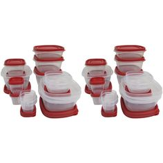 Rubbermaid Case of 2 Easy-Find 24-Piece Plus 4 Food Storage Sets: Kitchen & Dining : Walmart.com