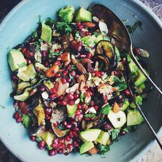 I think this will forever be my favorite salad. Moroccan Quinoa Salad filled with all things tasty, recipe in Green Kitchen Travels.