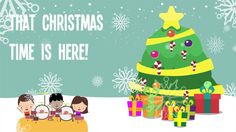 Ring the bells, Christmas time is here! Christmas song for kids.  #christmasforkids #preschool