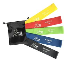 Set of 5 Resistance Bands __¥ Premium Natural Latex Exercise Loop Bands __¥ Great for Improving Mobility and Strength, Yoga, Pilates, or for Injury Rehabilitation __¥ For Women or Men __¥ With Storage Bag >> For more information, visit now : Weight loss Accessories