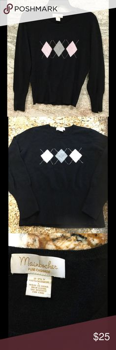 Pure Cashmere  Argyle Sweater Great condition mainbocher Sweaters Crew & Scoop Necks