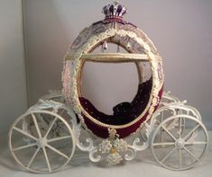 Hand carved ostrich egg Cinderella's carriage by DianneFindlay $55.00