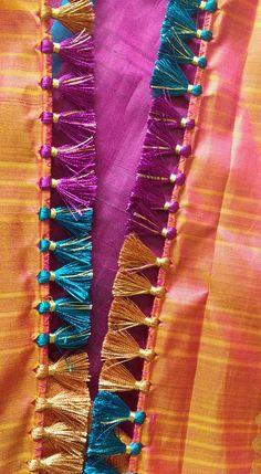 Saree Tassels Designs, Saree Kuchu Designs, Rangoli Designs, Mehndi Designs, Blouse Designs, Indian Hairstyles For Saree, South Indian Hairstyle, Latest Gold Ring Designs, Peacock Rangoli