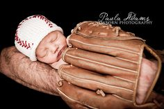 Newborn Photo Prop...Newborn Boy Baseball Hat... Baby Baseball Beanie....Hand Knit Spring Baseball Hat... Baby Knit Sport Hat. $22.99, via Etsy.