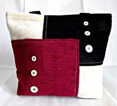 Tote bag in velluto multicolor : Altre borse di passione-per-il-cucito