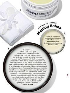 Beautycounter Cleansing Balm in Allure Mag