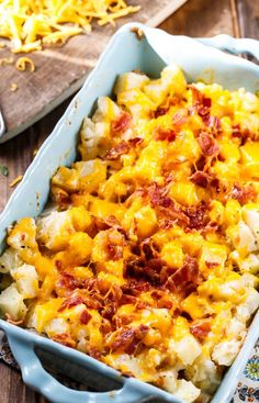 Cheesy Bacon Ranch Potatoes make such a delicious side.