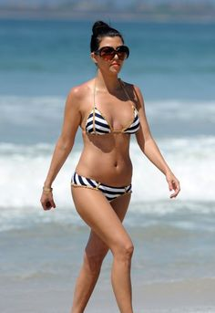 Kourtney Kardashian looking fabulous in Beach Bunny