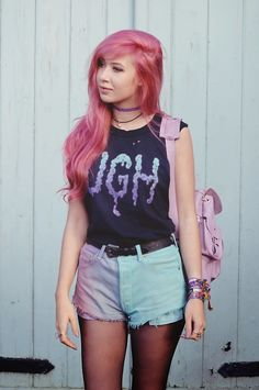 http://www.luckymelli.com - alternative fashion pastel goth outfit: (via QUANTUM FLUX | Amy Valentine)