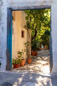 Kourounochori village, Naxos, Greece