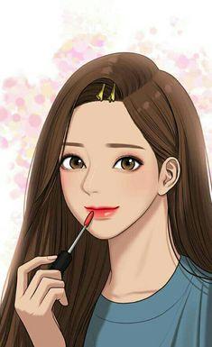 Cartoon Girl Images, Girl Cartoon, Cartoon Art, Cute Girl Drawing, Cute Drawings, The Secret, Anime Korea, Disney Princess Pictures, Webtoon Comics