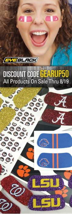 All products on our webstore 50% through Friday, 8/19! This is the perfect time for fans and athletes to gear up for the fall season with our collegiate , athletic, Greek , and MLB products (and much more)! Use code GEARUP50