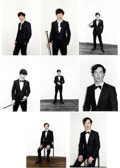 Top row, middle picture is my favorite, but the whole thing gave me serious eyegasms. Jesus, Benedict, stop being so freaking perfect! I'm already gonna die alone because nobody compares to you!!