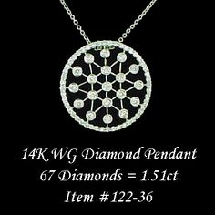 Bezel set diamond pendant.