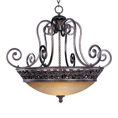 Maxim Lighting 20283VAOI 4 Light Portofino Bowl Large Pendant, Oil Rubbed Bronze | ATG Stores