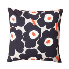 Marimekko Pieni Unikko Dark Grey Throw Pillow