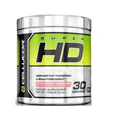 Cellucor SuperHD Thermogenic Fat Burner Powder Weight Loss Supplement for Men & Women Strawberry Lemonade 30 Servings