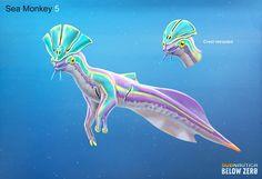 Subnautica Concept Art, Alien Concept Art, Creature Concept Art, Subnautica Creatures, Curious Creatures, Magical Creatures, Creature Feature, Creature Design, Alien Fish