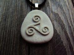 Celtic Triskele. Triskele engraved. Engraved by SeaStoneFrog