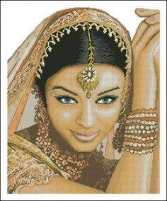 free cross stitch patterns in pdf format with indian lady