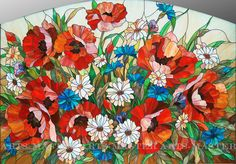 "Stained Glass ""Poppies"""
