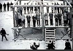 December 26, 1862 -38 Dakota Warriors were hung in the U.S.A. becoming the largest mass execution still remaining today. The hanging happened in Mankato, Minnesota. Abraham Lincoln signed the papers to have 40 men hung because of the Dakota Uprising. The U.S. did not follow through with their agreement on The Treaty of 1851. They were not given food rations promised & money for land was held by the U.S. The families began to starve which caused the Warriors to revolt