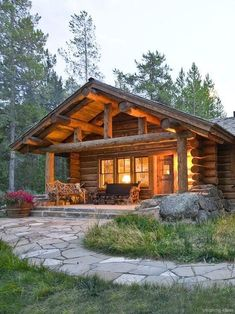 122 rustic log cabin homes design ideas