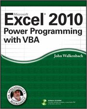 Excel 2010 Power Programming with VBA - O'Reilly Media