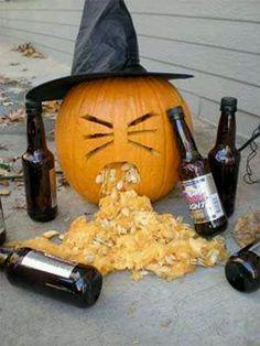 Pumpkin, drunk, beer