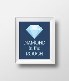 """""""Diamond in the Rough"""" Disney Aladdin Quote - Wall Art Print by Enchanted Type. Available as an instant download!"""