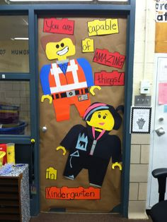 Welcome to kindergarten Lego door