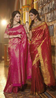 Love the Pink Kanchivaram