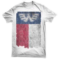 852c2ae690f Flying W Texas Flag Waylon Jennings Mens Tee Shirt - White