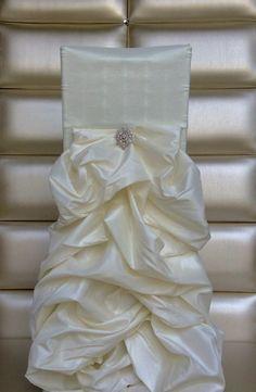 Freya Rosa Ruffled Satin Chair Covers