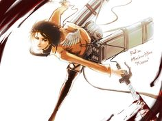 Attack On Titan Mikasa   Attack on TITAN : Mikasa Warm color by Xiiiwings on deviantART