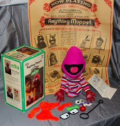 RARE 1974 Jim Henson The Anything Muppet Sesame Street Hand Puppet Complete | eBay