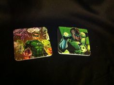 Green Lantern comic book coasters  by EJcrafting on Etsy, $12.00