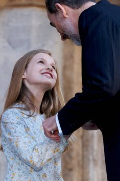 King Felipe VI of Spain and Princess Leonor of Spain attend the Easter mass on April 1, 2018 in Palma de Mallorca, Spain.