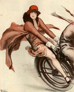 Armand Vallee for La Vie Parisienne 1920s  - (Cycling, Biking)
