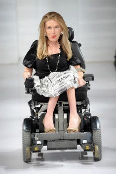 New York Fashion Week 2014: First model in wheelchair at Carrie Hammer show #nyfw #mbfw
