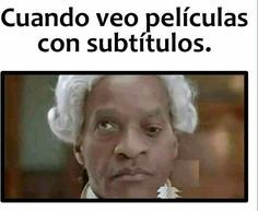 When I watch movies with subtitles. Wtf Funny, Funny Jokes, Hilarious, Love Memes Funny, Funny Spanish Memes, Spanish Humor, Funny Photos, Funny Images, Humor Grafico