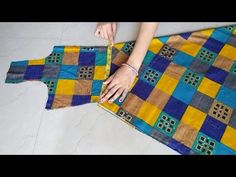 Umbrella Cut Kurti/Gown Cutting and Stitching Full Tutorial (Step by Step) Girls Dresses Sewing, Dress Sewing Patterns, Sewing Clothes, Baby Dresses, Churidar Neck Designs, Couture Sewing Techniques, Stitching Dresses, Sleeves Designs For Dresses, Tips & Tricks