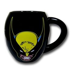 Does Wolverine drink coffee? My guess is that he runs high powered energy drinks and liquor over ground up rusted nails...and that's how he starts his morning! He probably pours that concoction into the Wolverine Mask & Logo 18oz Ceramic Mug but I wouldn't suggest attempting to make a brew like that; you need a super-charged healing factor for that sort of madness! Showing off a headshot and logo, the Wolverine Mask & Logo 18oz Ceramic Mug is the proper way to get…