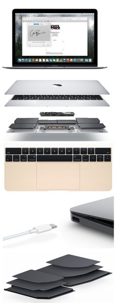 The real star of today's #AppleWatchEvent was the reengineered Apple MacBook, which has a 12-inch, 2,304-by-1,440-pixel Retina display, no fan and a single USB-C port for power, data, video and everything else. The keyboard and touchpad are enhanced and inside the 13.1 mm aluminum alloy shell is a tiny logic board a third the size of the one in the 11-inch MacBook Air and thin, layered batteries. The MacBook starts at $1,299 with 256GB of storage, 8GB RAM and a 1.1 GHz Intel Core M processor...